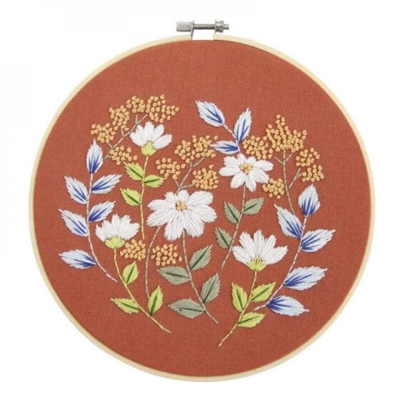 DIY Embroidery For Beginner Needlework Practice Kits Modern Flower Wall Painting Craft Art For Home Decoration Meet Sets