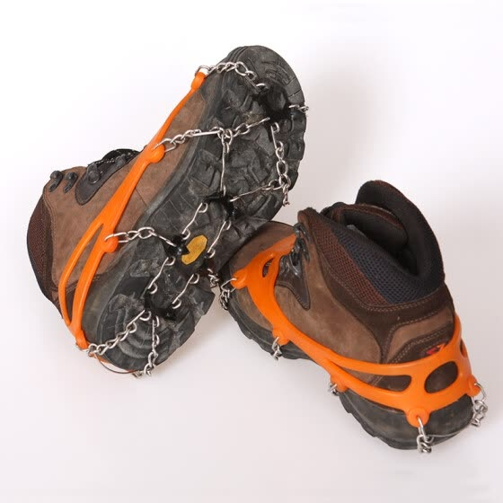 Sand wrapped outdoor crampons snow anti-skid shoe covers snow claw climbing equipment ice caught hiking shoes nail chain