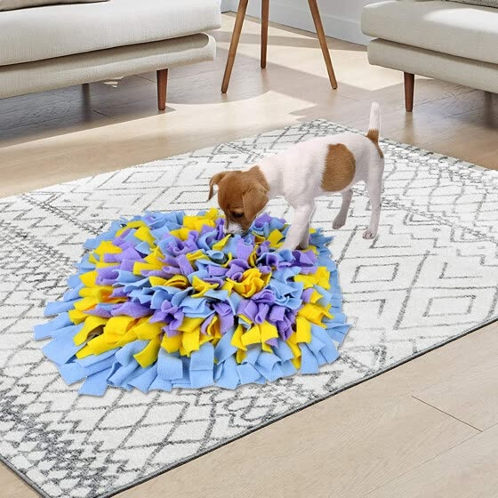 TOYFUNNY Wooly Washable Snuffle Mat Feeding Mat for Dogs Naturally Perfect for Any Breed