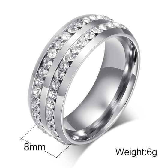 Unisex Titanium Steel Ring Men Women Wedding Band Silver Gold Size 6-13