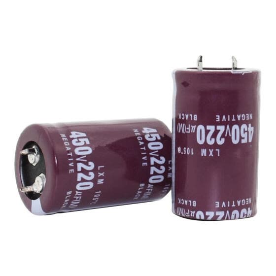 2pcs 30x30mm 220UF 450V Metal Aluminum Electrolytic Capacitors for Circuits