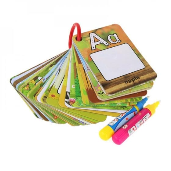 Children 26 Letters 3D Early Education Cognitive Puzzle Cards Water Painting Graffiti Drawing Board Colouring Painting board Toy