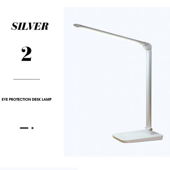LED Desk Lamp with Fast Wireless Charger, USB Charging Port, 7 Brightness Levels, 9 Color Modes, Black