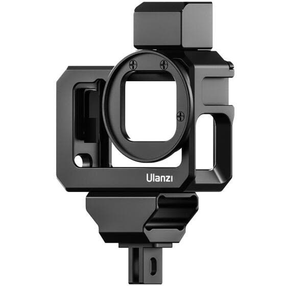 Ulanzi G9-5 Action Camera Video Cage Metal Vlog Case Protective Housing with Dual Cold Shoe Mount 52mm Filter Adapter Extension Ac