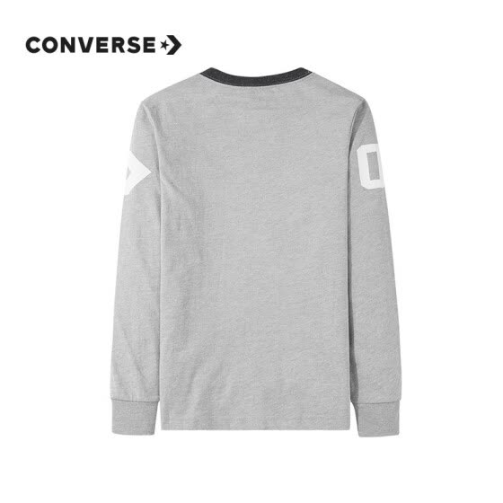 Converse Boys Long Sleeve Pullover T-Shirt Children's Autumn Bottoming Shirt Top 8811 Rock Grey 150 (M)