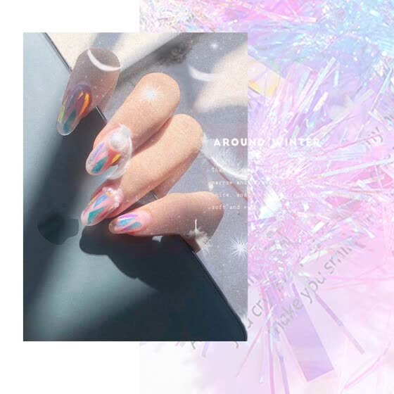 Laser Mirror Nail Art Foil Stickers Gorgeous Holographic Manicure Decal (2)