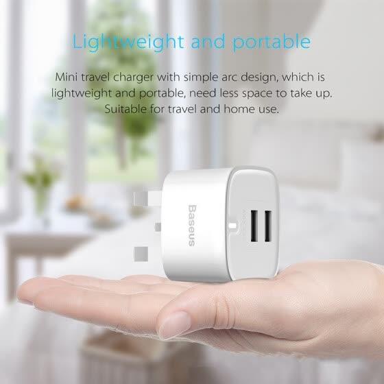 iPhone Android Speed Charge Универсальный штекер Dual USB зарядное устройство 2.4A Британский стандарт