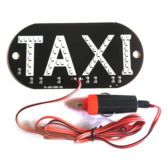 12V Taxi Cab Windscreen Windshield Sign LED Light Lamp Bulb with Suction Disc Cigarette lighter green