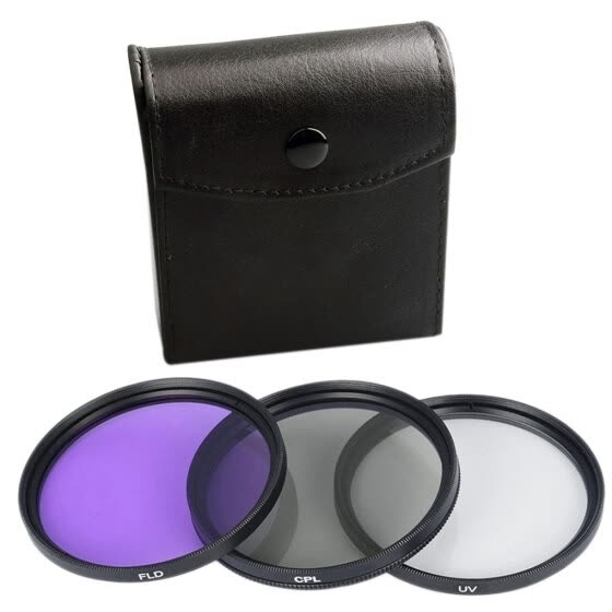 Dido 3pcs UV CPL FLD 3-in-1 Lens Filter Set with Bag SLR Camera Color Lens UV Protector Filter Replacement