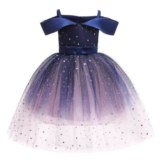 YE-Girls Princess Dress Kids Prom Sequins Tulle Ball Gowns Girls Costume Pageant Party Dress