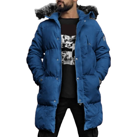 Lovaru Men's Solid Color Thick Down Jacket Hooded