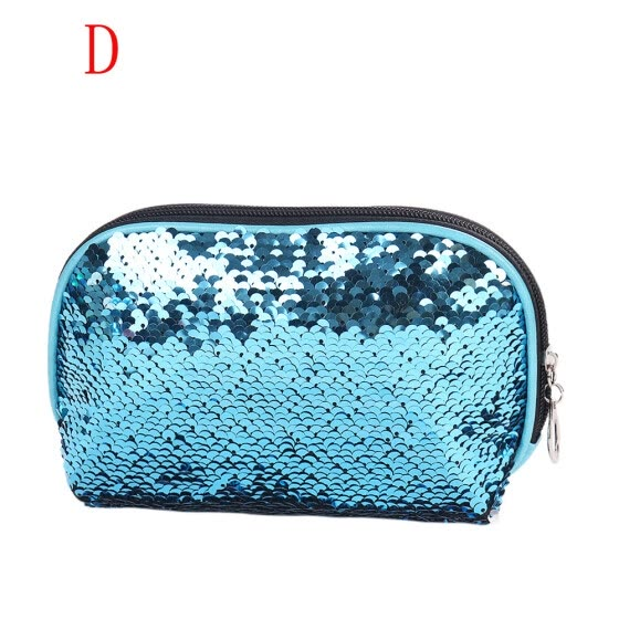 Mermaid Sequin Pencil Case Cosmetic Makeup Coin Pouch Storage Zipper Purse HOT