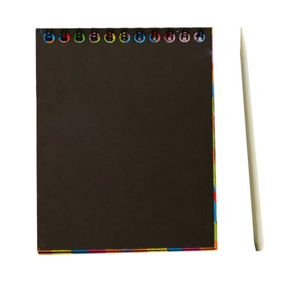 Children DIY Scratch Painting Colorful Free Graffiti Book 10 Pages 10x14cm