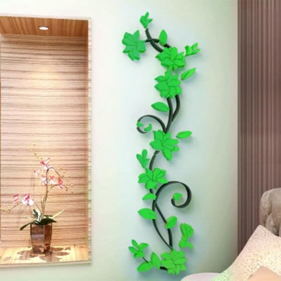 High Quality Colorful 3D Flower Removable DIY Rose Stickers Decal Mural Home Room Decors Vinyl Quote Wall Sticker
