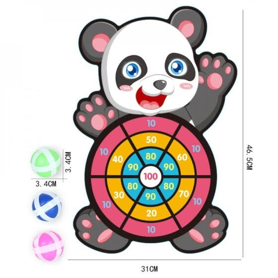 children Throw Dartboard Target with 3 Sticky Parent-child Party Classic Sports Baby indoor Sucker Ball Toys