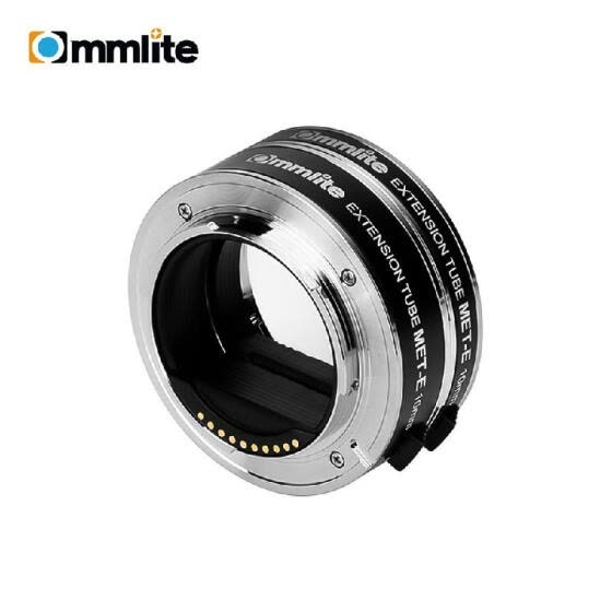 COMMLITE CM-MET-E Automatic Macro Extension Tube Ring Set 10mm 16mm Auto Focus TTL Exposure Compatible with  E-mount Mirrorless Ca