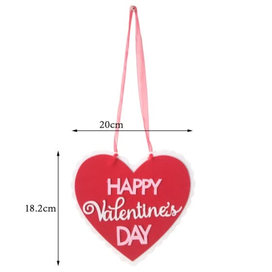 Valentine's Day Wall Hanging Decoration Non-woven Fabrics Letter Hanging Ornaments for Wedding Valentine's Day Party Decoration