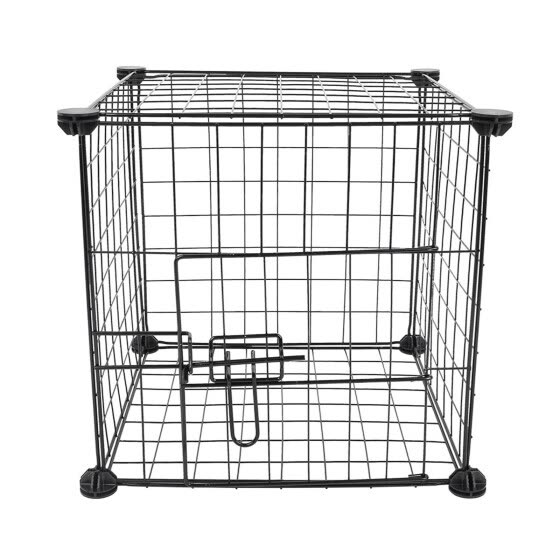 6 Panel Pet Playpen DIY Small Animal Cage Indoor Portable Metal Wire Yard Fence
