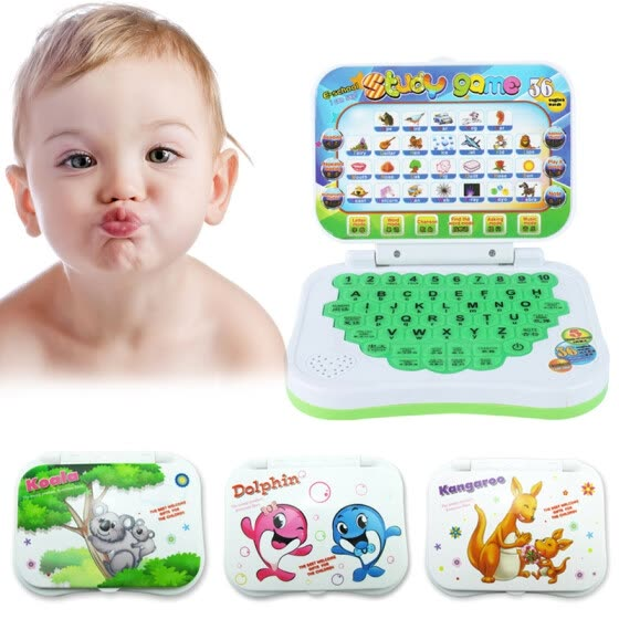Laptop Chinese English Learning Computer Toy for Boy Baby Girl Children Kids