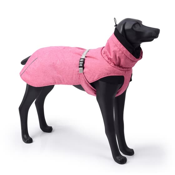 Dog Winter Jacket Warm Puppy Coat Waterproof Windproof Dog Apparel Breathable Pet Clothes, Rose Red 2XL