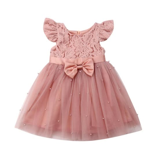 Flower Girl Dress Wedding Dress Birthday Dress Pageant Dresses Lace Tulle Dress
