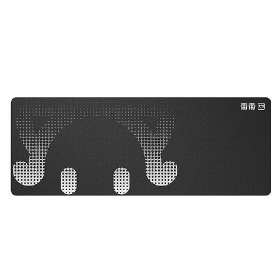 DaiDai STP006 Ultra-large Size Thickened Gaming Office Mouse Pad Anti-slip Wear-resistant Desk Pad Smooth Movement 800*300mm Black