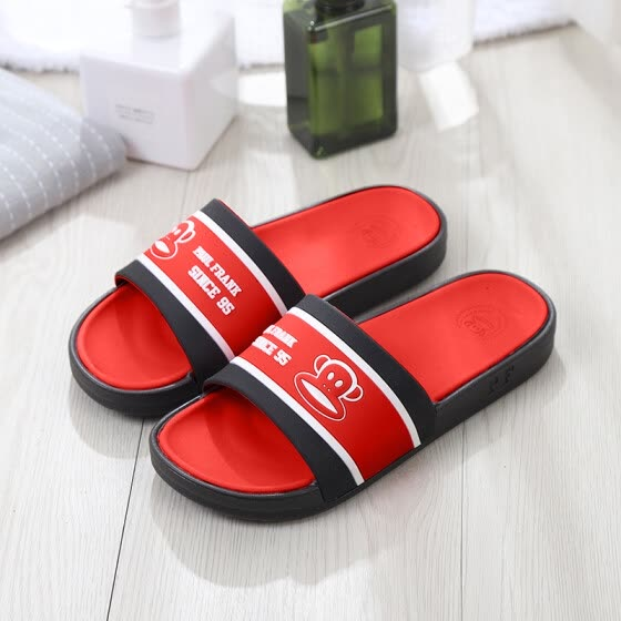 PaulFrank big mouth monkey male and female couple models home bathroom bath home outdoor beach sandals and slippers PF729 big red 42
