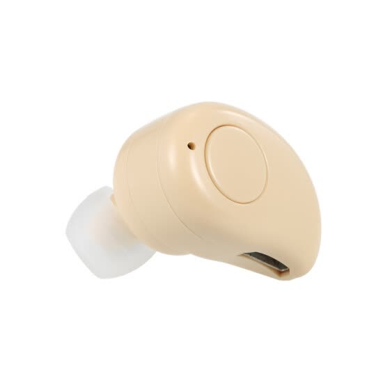 S530 Plus Invisible Bluetooth 4.1 Headphones In-ear Stereo Music Headsets Hands-free w/ Microphone Earphone Beige for Exercise Bus