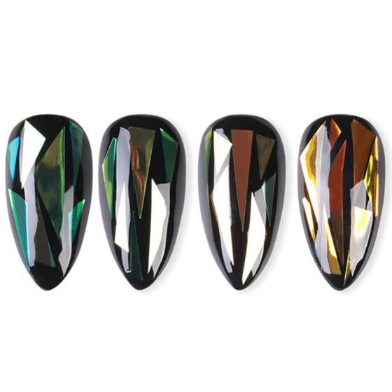 4 Packs Nail Art Sticker DIY Shiny Nail Decal Nail Art Decoration Manicure Decal
