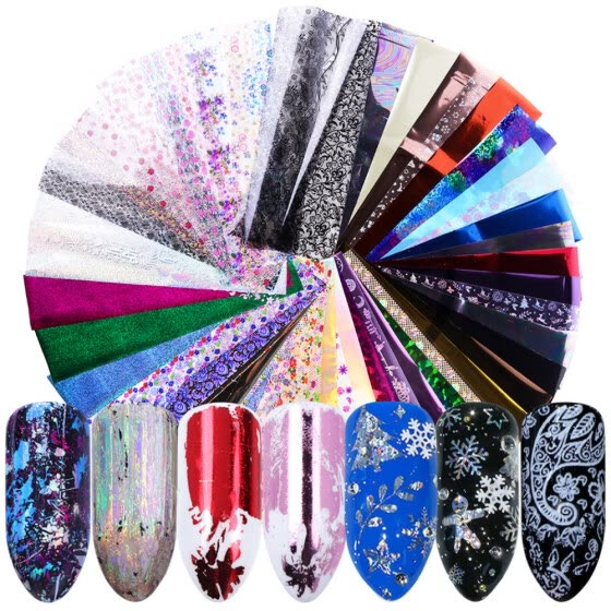 50 Sheets Nail Sticker Fashion Creative Decorative Nail Decal Nail Art Sticker