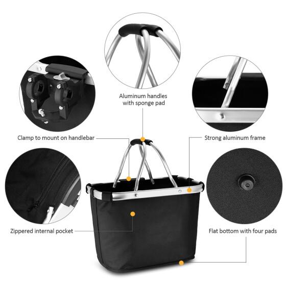 Bicycle Basket Folding Pet Cat Dog Carrier Front Bike Handlebar Basket Bag New