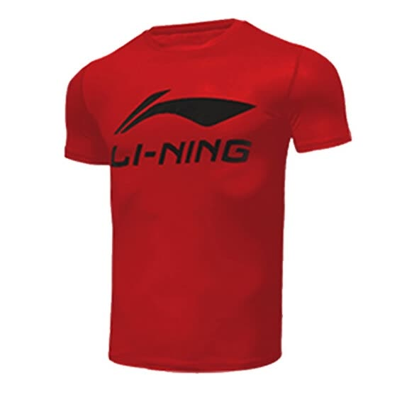 Li Ning sports short-sleeved men's t-shirt China Li-Ning short-sleeved basketball quick-drying clothing fitness clothing men's summer football uniform tops lightweight loose sports shirts badminton uniforms red short-sleeved XXXL