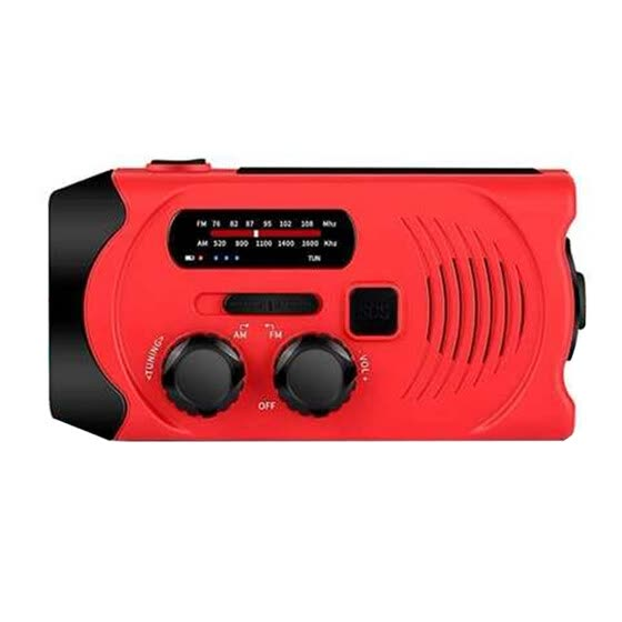 Solar Powered Hand Crank Radio Phone Charger Power Bank Portable Solar Hand Crank 4-LED Light Rechargeable SOS Alarm radio