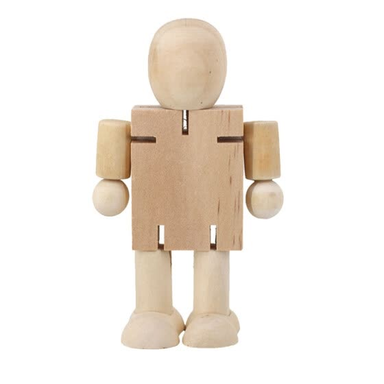 Follure 3D Children s Educational Toys DIY Painting Graffiti Wooden Man Wooden Robot