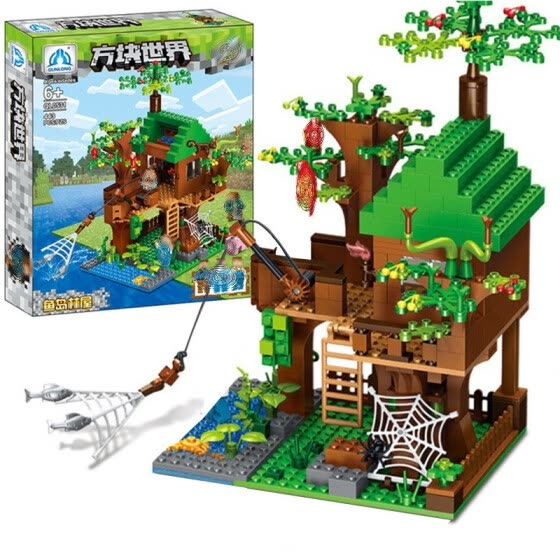 Yudao Tree House Building Block Compatible with Lego Plastic Small Particle Creative Enlightenment and Intelligence Building Block