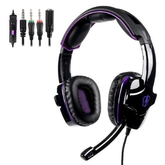LETTON L8 Gaming Headset 3.5mm Stereo Over-Ear Headphone with Adjustable Microphone for PC Laptop
