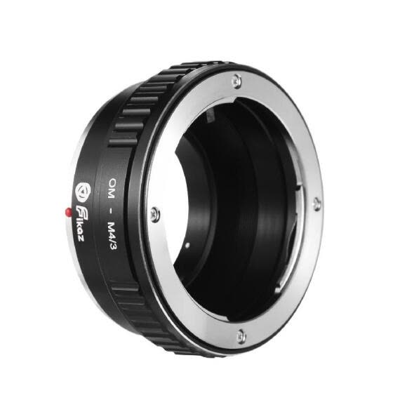 Fikaz OM-M4/3 Lens Mount Adapter Ring Aluminum Alloy Compatible with Olympus OM Mount Lens to Olympus Panasonic M4/3 Micro 4/3 Mou
