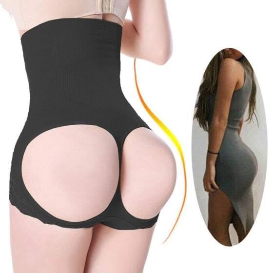 c04d201d42ba SLIMBELLE Women High Waist Thong Panties Tummy Control Butt Lifter Shaper  Underwear Waist Cincher