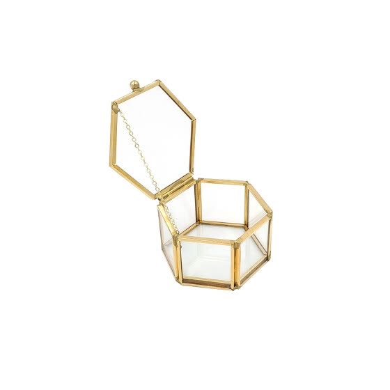 Geometrical Clear Jewelry Box Jewelry Organize Holder Ring Box Necklace Bracelets Earrings Jewelry Storage Accessories
