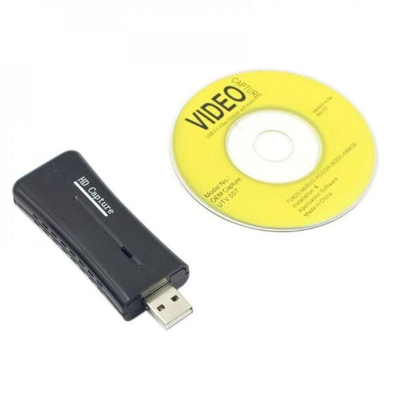 Portable Mini USB 2.0 Port Video Capture Card HD 1 Way HDMI 1080P Video Capture Card for Windows XP/Vista/7/8/10 Computer