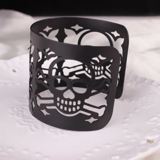 Fashion Hollow Skull Open Bangle Bracelet Halloween Brand New Statement Jewelry Gifts