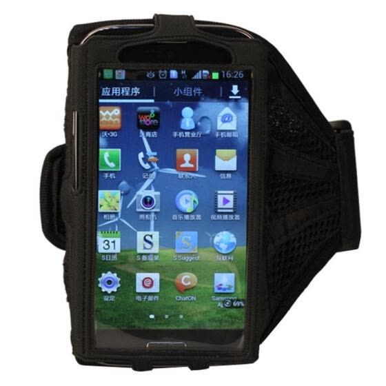 Sport Armband Case Mesh Running Arm Band for Samsung Galaxy I9500 S4 Black