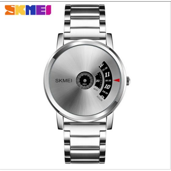 SKMEI Men's Fashion Watch Luxury Stainless Steel Analog Quartz Sport Wrist Watch