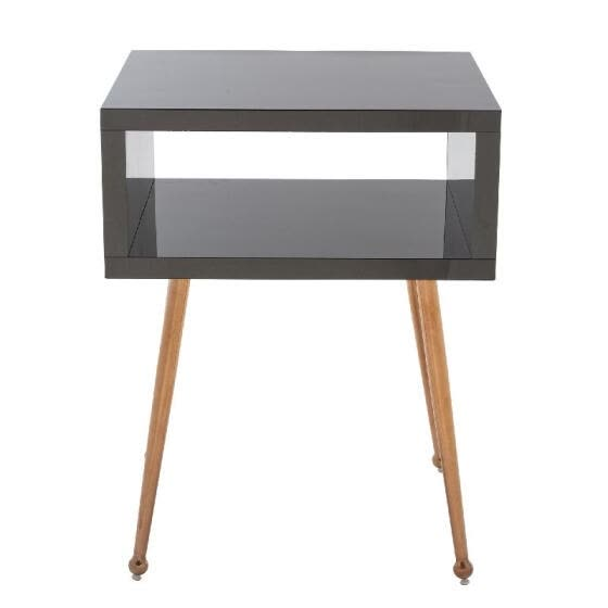 MIRROR END TABLE  MIRROR NIGHTSTAND   END&SIDE TABLE  (Black)