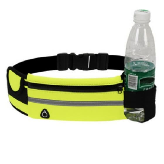 Waist Bag Casual Reflective Adjustable Waist Pack Fanny Pack with Bottle Loop