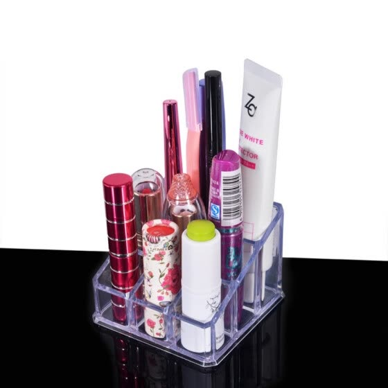 Lipstick Lip Gloss Makeup brush tools Transparent Acrylic Cosmetics Storage Box Organizer Display Holder Makeup Tool Kit