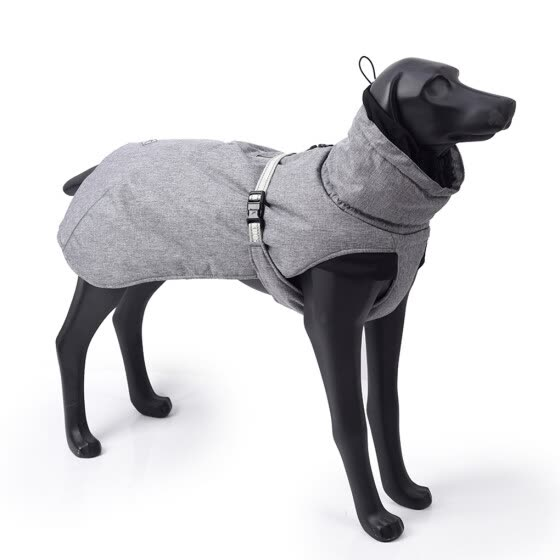Dog Winter Jacket Warm Puppy Coat Waterproof Windproof Dog Apparel Breathable Pet Clothes, Senior Grey 2XL