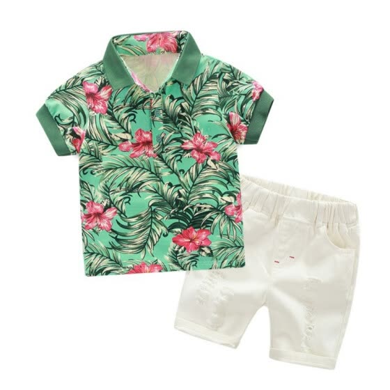 2021 New Baby Boys Casual Shirt+Shorts Summer Toddler Kids Cotton Tops+Pants 2Pcs Clothes Set 1-6 Years Fashion Clothing