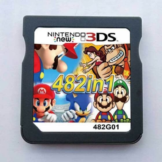 482 in 1 Video Game Compilation Cartridge Card for DS 3DS Console Super Combo Multi Cart