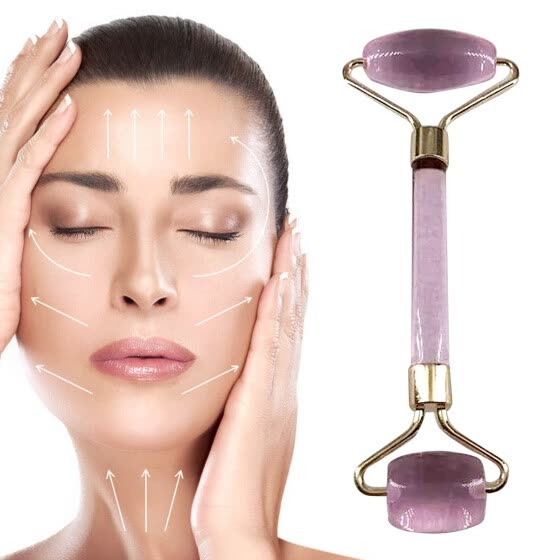 Double Head Facial Massage Jade Roller Face Body Head Neck Nature Beauty Device